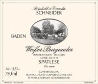 Weißer Burgunder Trio *** Spätlese trocken 2013