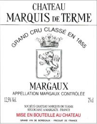 Chateau Marquis de Terme 4eme Cru