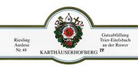 Eitelsbacher Karthäuserhofberg Riesling Auslese Nr. 53 (fruchtsüß)