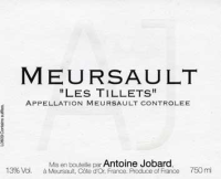 Meursault Les Tillets Village 2012