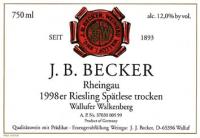 Riesling Spätlese trocken Wallufer Walkenberg 1998