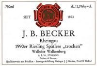 Riesling Spätlese trocken Wallufer Walkenberg 1990