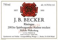 Wallufer Walkenberg Spätburgunder Auslese Alte Reben trocken 2003
