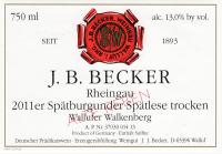 Wallufer Walkenberg Spätburgunder Spätlese Alte Reben trocken 2011
