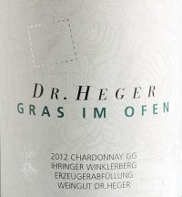 Chardonnay Winklerberg hinter Winklen Gras im Ofen Großes Gewächs trocken 2013