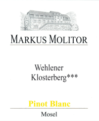 Pinot Blanc Wehlener Klosterberg *** trocken