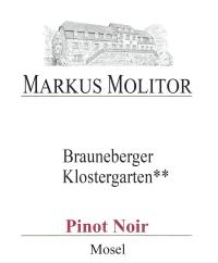 Pinot Noir Brauneberger Klostergarten ** trocken 2012