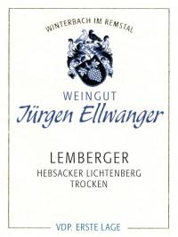 Hebsacker Lichtenberg Lemberger Erste Lage 2015