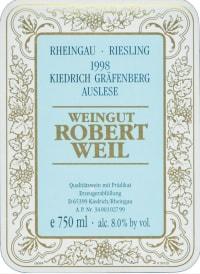 Kiedricher Gräfenberg Riesling Auslese (fruchtsüß) 2005