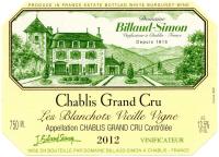 Chablis Grand Cru Les Blanchots Vieille Vigne 2012