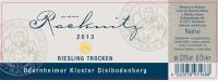 Riesling Odernheimer Kloster Disibodenberg trocken 2013
