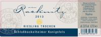 Riesling Schloßböckelheimer Königsfels  trocken 2013
