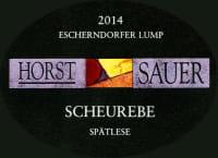 Scheurebe Spätlese feinherb Escherndorfer Lump 2014