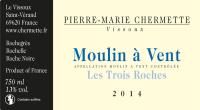 Beaujolais Moulin a Vent Les Trois Roches