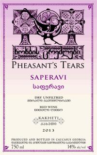 Pheasants Tears Saperavi Skin Contact 2013