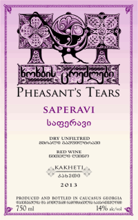 Pheasants Tears Saperavi Skin Contact