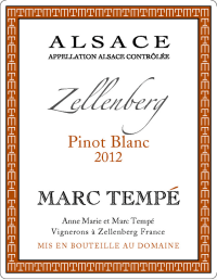 Pinot Blanc Zellenberg 2012