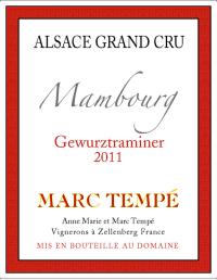 Gewürztraminer Mambourg Grand Cru 2011