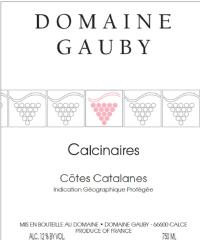 Les Calcinaires Côtes Catalanes rouge