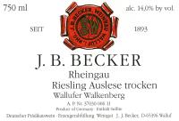 Riesling Auslese trocken Wallufer Walkenberg
