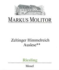 Riesling Zeltinger Himmelreich Auslese ** Grüne Kapsel feinherb