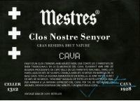 Cava Clos Nostre Senyor Gran Reserva Premium Flaschengärung