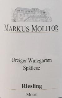 Riesling Ürziger Würzgarten Spätlese Weiße Kapsel  trocken