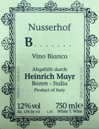 B....... (Blatterle) Vino Bianco