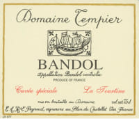 Bandol Rouge Cuvee La Tourtine
