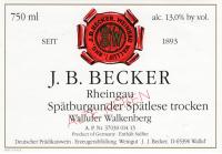 Spätburgunder Wallufer Walkenberg Spätlese trocken alte Reben