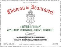 Chateauneuf du Pape blanc Chateau de Beaucastel