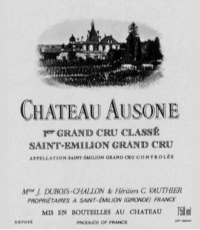 Chateau Ausone 1er Gr.Cr.Cl.A
