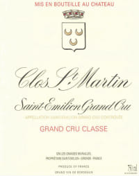 Chateau Clos Saint Martin Grand Cru Classe 2011