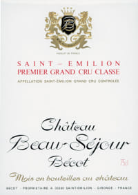 Chateau Beausejour Becot 1er Gr.Cr.Cl.B