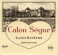 Chateau Calon Segur 3eme Cru 2015
