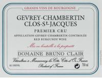 Gevrey Chambertin Clos St Jacques 1er Cru 2011