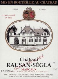 Chateau Rauzan Segla 2eme Cru 2010