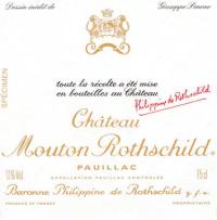 Chateau Mouton Rothschild 1er Cru 2012