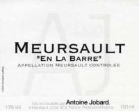 Meursault En la Barre Village 2012