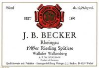 Riesling Spätlese Wallufer Walkenberg (fruchtsüß) 1989
