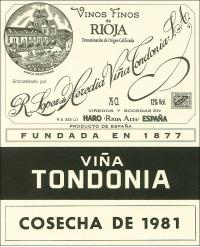Vina Tondonia Blanco Gran Reserva 1981