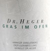 Grauburgunder Winklerberg hinter Winklen Gras im Ofen Großes Gewächs 2013