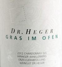 Chardonnay Winklerberg hinter Winklen Gras im Ofen Großes Gewächs trocken 2015
