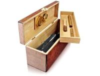 Edle Weingeschenkbox Zedernholz