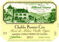 Chablis 1er Cru Mont de Milieu Vieille Vigne 2012
