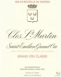 Chateau Clos Saint Martin Grand Cru Classe 2010