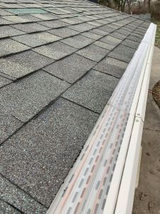 Mastershield gutter guard installed on a gutter in dayton ohio