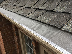 "leaflock micro mesh gutter guard installed on 5"" gutters"