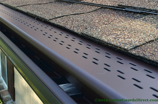 leafree hi flow brown installed on 6 inch gutters