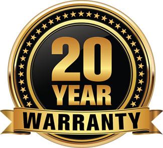 20 year warranty logo